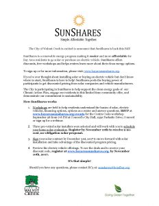 SunShares 2017 flyer